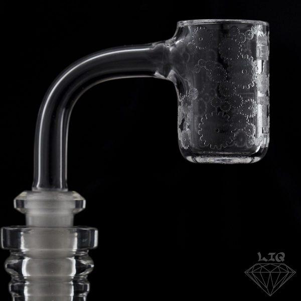 long island quartz 10mm gear etched banger