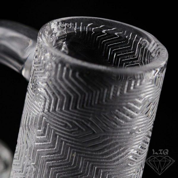 long island quartz 14mm aztec etched banger