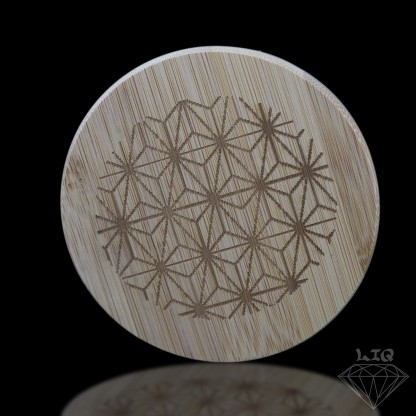 long island quartz 14mm etched flower of life banger