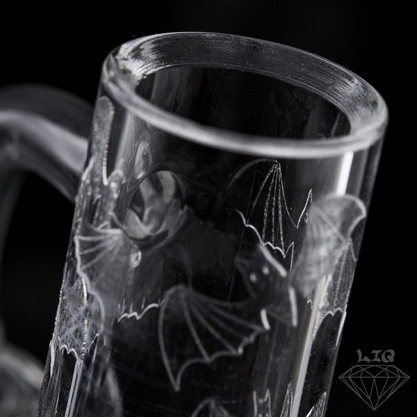 long island quartz 10mm bats etched banger